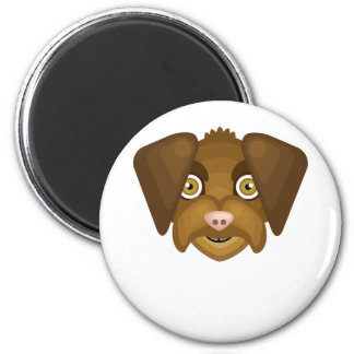 Wirehaired Pointing Griffon Dog - My Dog Oasis 2 Inch Round Magnet