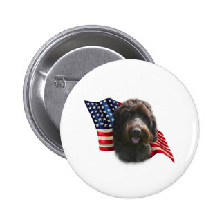 Wirehaired Pointing Griffon Flag 2 Inch Round Button