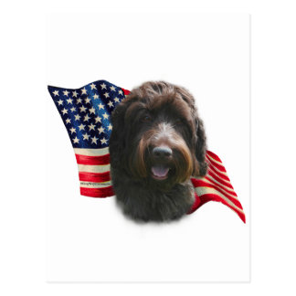 Wirehaired Pointing Griffon Flag Postcard