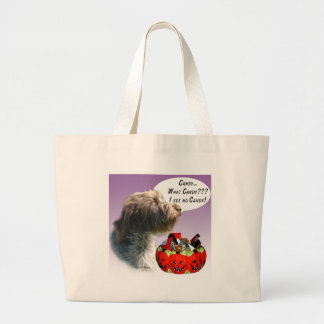 Wirehaired Pointing Griffon Halloween Candy Jumbo Tote Bag