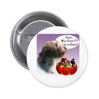 Wirehaired Pointing Griffon Halloween Candy 2 Inch Round Button