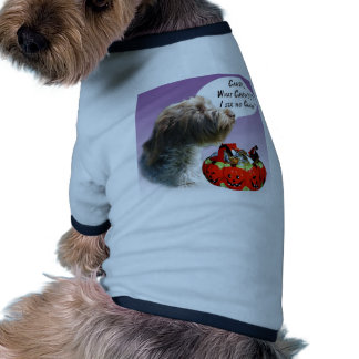 Wirehaired Pointing Griffon Halloween Candy Dog Tee Shirt