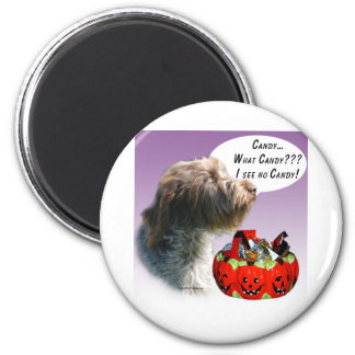 Wirehaired Pointing Griffon Halloween Candy 2 Inch Round Magnet