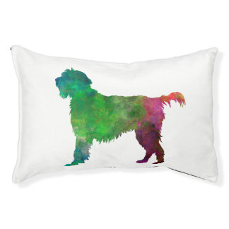 Wirehaired Pointing Griffon Korthals in watercolor Cama Para Mascotas