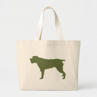 Wirehaired Pointing Griffon Large Tote Bag
