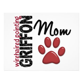 Wirehaired Pointing Griffon Mom Paw Print 2 Flyer Design