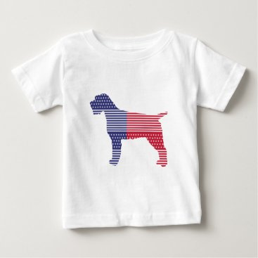 USA Themed Wirehaired Pointing Griffon Patriotic Dog Red Blue Baby T-Shirt