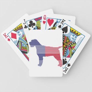 USA Themed Wirehaired Pointing Griffon Patriotic Dog Red Blue Bicycle Playing Cards