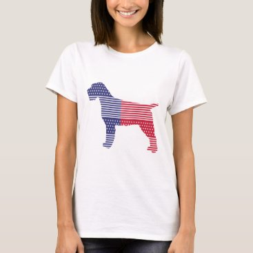 USA Themed Wirehaired Pointing Griffon Patriotic Dog Red Blue T-Shirt