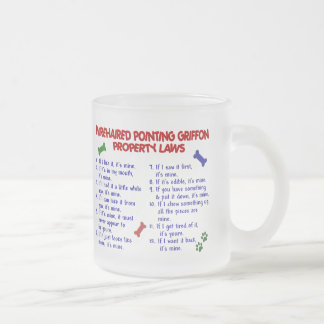 WIREHAIRED POINTING GRIFFON Property Laws 2 Frosted Glass Coffee Mug