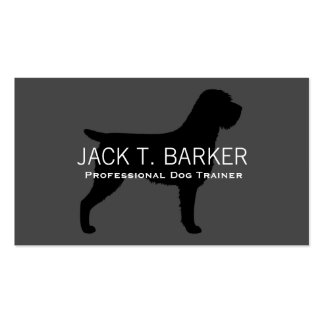 Wirehaired Pointing Griffon Silhouette Business Card