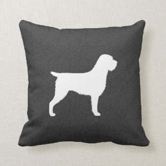 Wirehaired Pointing Griffon Silhouette Throw Pillow