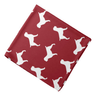 Wirehaired Pointing Griffon Silhouettes Pattern Bandana