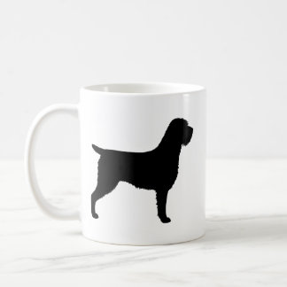 Wirehaired Pointing Griffon Silhouettes Pattern Coffee Mug