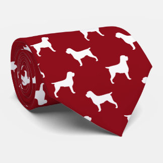Wirehaired Pointing Griffon Silhouettes Pattern Neck Tie