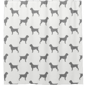 Wirehaired Pointing Griffon Silhouettes Pattern Shower Curtain