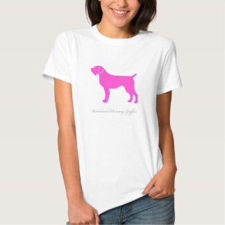 Wirehaired Pointing Griffon T-shirt (pink)