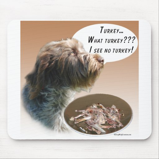 Wirehaired Pointing Griffon Turkey Mouse Pad
