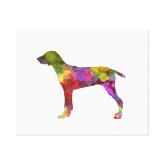Wirehaired Slovakian Pointer in watercolor-2 Canvas Print