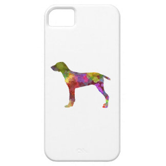 Wirehaired Slovakian Pointer in watercolor-2 iPhone SE/5/5s Case