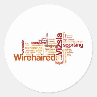 Wirehaired Vizsla Classic Round Sticker