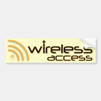 Wireless Access Christian bumper sticker