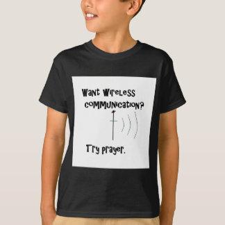 Wireless Communication Prayer T-Shirt