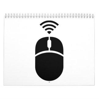 Wireless computer mouse calendar