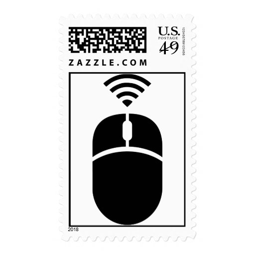 Wireless computer mouse stamps