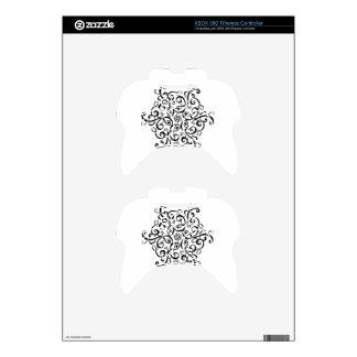 Wireless Controller Zazzle Skin-Black&White Design Xbox 360 Controller Skin