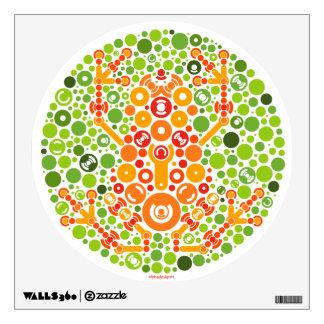 Wireless Frog, Color Perception Test Wall Sticker