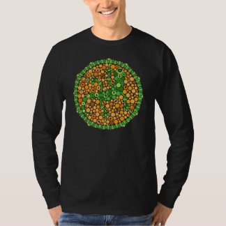Wireless Gecko, Color Perception Test, Black T-Shirt