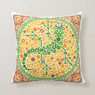 Wireless Gecko, Color Perception Test, White Pillow