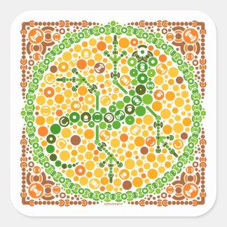 Wireless Gecko, Color Perception Test, White Square Sticker