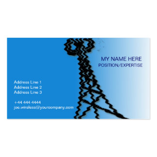 Wireless Industry Business Card, BLUE Business Card