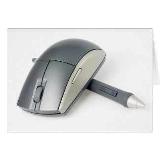Wireless mouse and digital pen greeting card