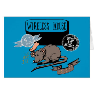 Wireless Mouse ~ Funny New Geek Gift Stationery Note Card