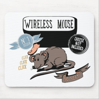 Wireless Mouse ~ Funny New Geek Gift Mouse Pad