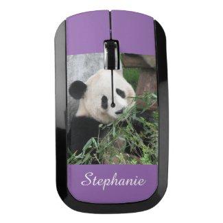 Wireless Mouse, Giant Panda, Purple, Personalized