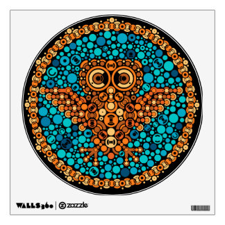Wireless Owl, Color Perception Test, Black Room Graphic