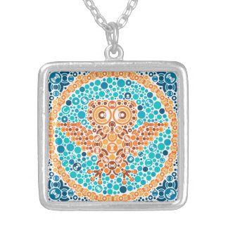 Wireless Owl Color Perception Test White Necklace