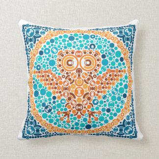 Wireless Owl, Color Perception Test, White Throw Pillow