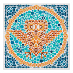 Wireless Owl, Color Perception Test, White Print