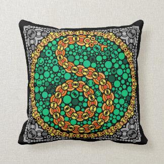 Wireless Python, Color Perception Test, Black Throw Pillow