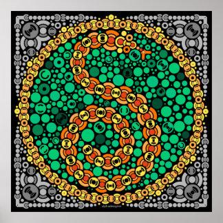 Wireless Python, Color Perception Test, Black Poster
