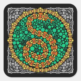 Wireless Python, Color Perception Test, Black Square Sticker