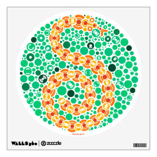 Wireless Python, Color Perception Test Wall Decal