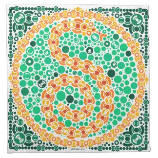 Wireless Python, Color Perception Test, White Printed Napkin
