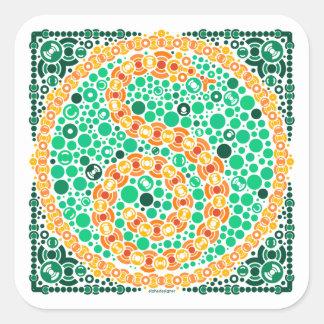 Wireless Python, Color Perception Test, White Square Sticker