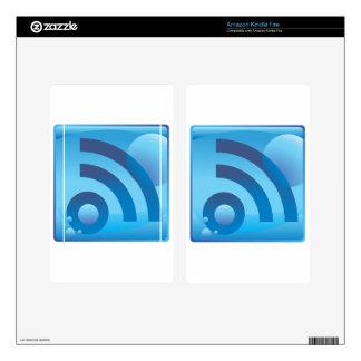 Wireless Signal Underwater Blue Icon Button Kindle Fire Skin